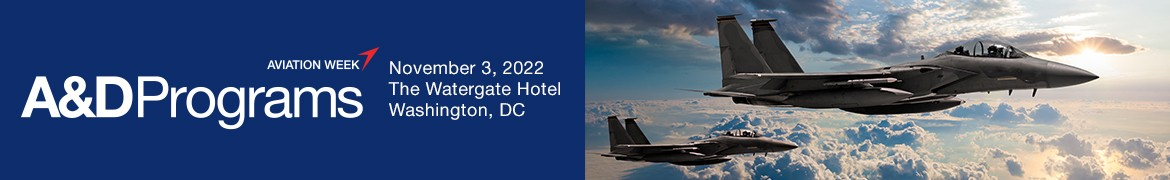 Aviation Week Defense Chain Featuring Program Excellence; October 20-21, 2020 \ Ritz Carlton Tyson's Corner, McLean, VA